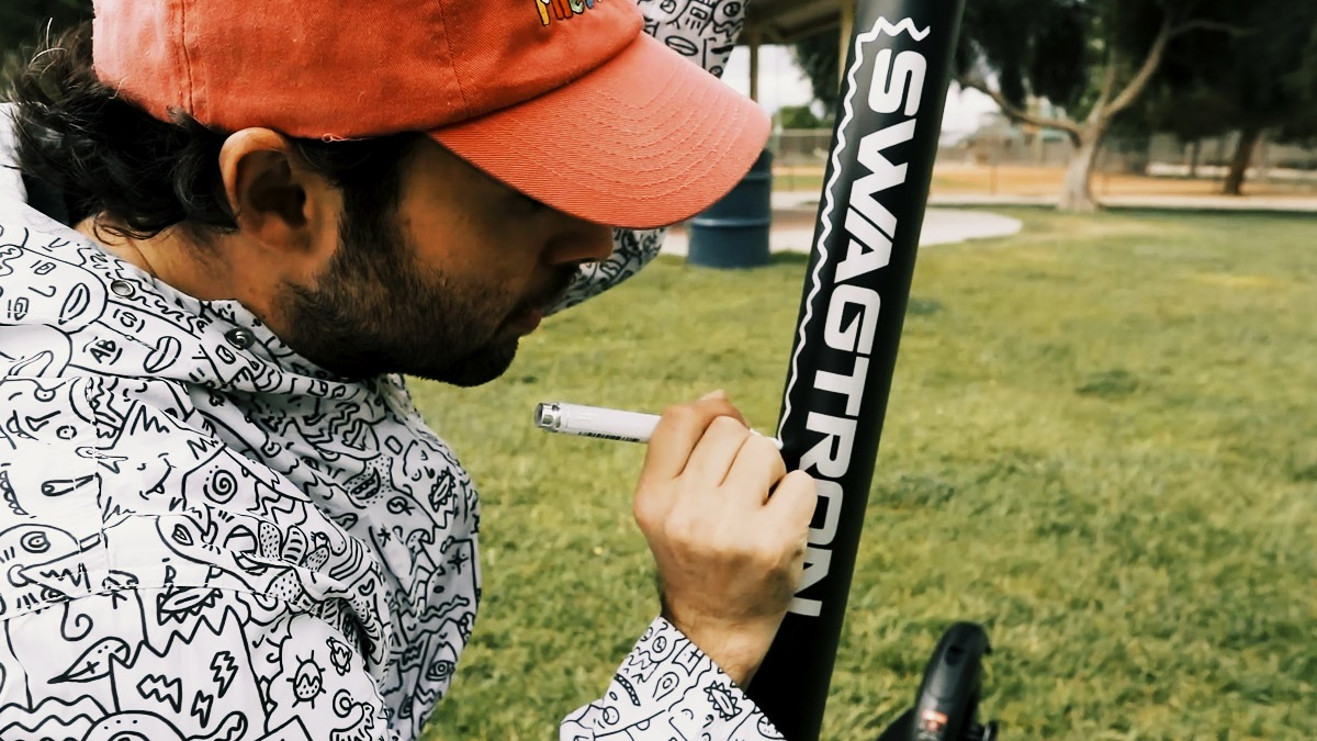 Artist Pretty Done drawing SWAGTRON on his Swagger 7T