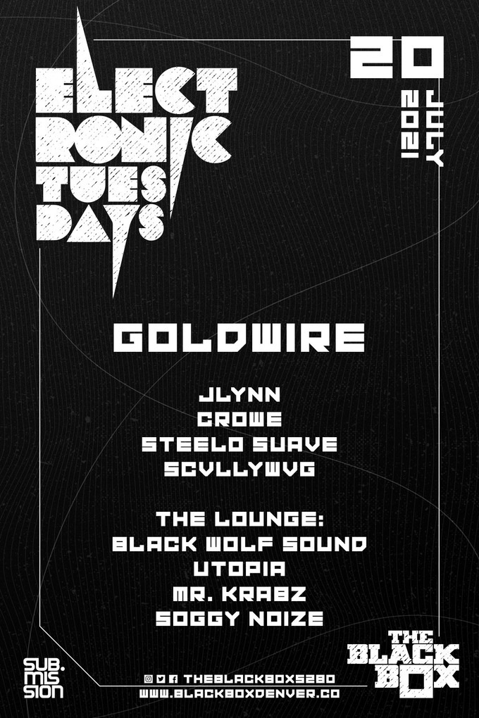 Flyer for the Black Wolf Sound event July 20.
