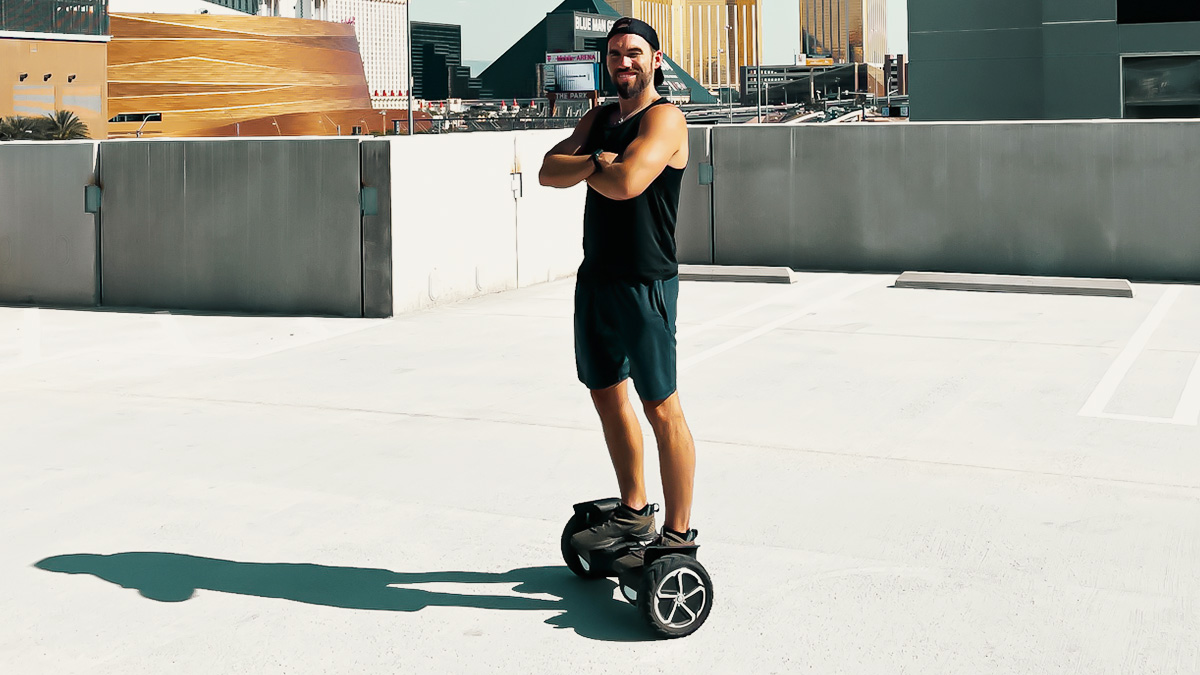 Travis Brewer on the swagBOARD T6 hoverboard