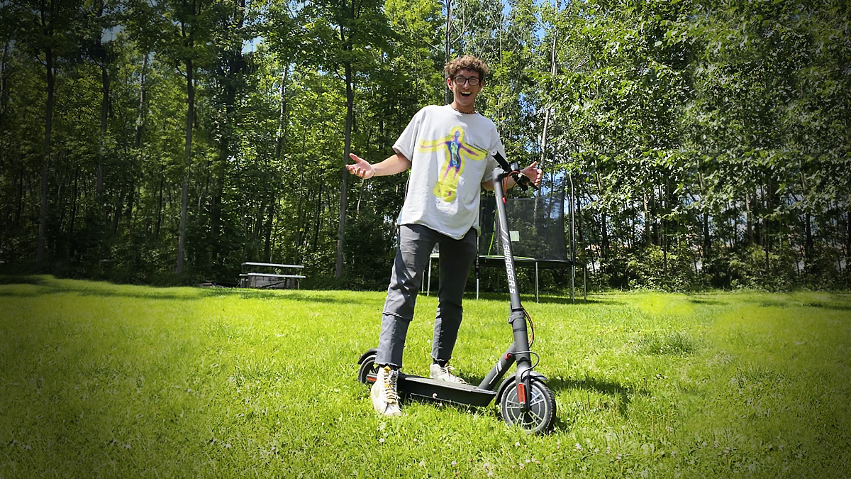 Josh and the Swagger 5 Elite electric scooter
