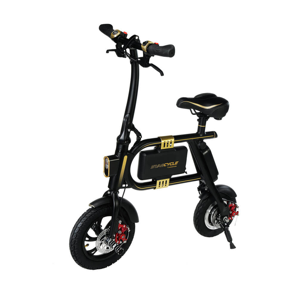 An Electric Bike that folds a SwagCycle Ebike by Swagtron USA